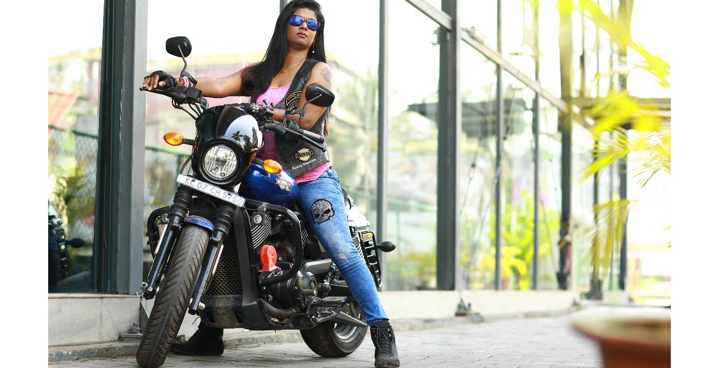 The Harley Davidson Lady: Sony Mathew
